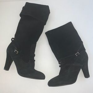 Enzo Angiolini Black Convertible Suede Boots Sz 6